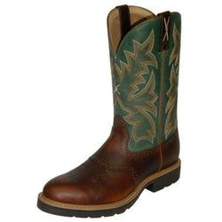 Men's' Pull On Work Boot with Cognac Glazed Pebble MCW0005