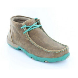 Twisted X Ladies Brown/turquoise Driving Mocs WDM0020