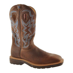 Men's Lite Cowboy Workboot – Brown Pebble/Brown Pebble MLCW003