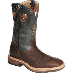 Twisted X Men's Lite Cowboy Workboot – Cognac/Blue MLCS006