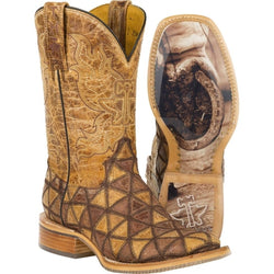 Tin Haul Tan Conquer the World Cowgirl Boots - Square Toe 14-021-0007-1295