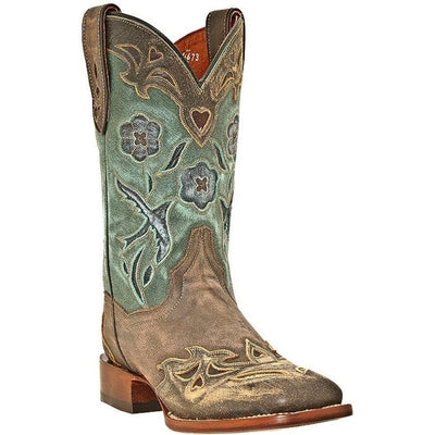 Dan Post Women's Cowgirl Certified Blue Bird Square Toe Western Boots DP2914