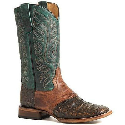 Women's Roper Sami Saddle Vamp Caiman Boots Handcrafted 09-021-6500-8106