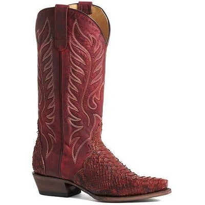 Women's Handcrafted Roper Trudy Triad Python Snake Skin Boots 09-021-6601-8108