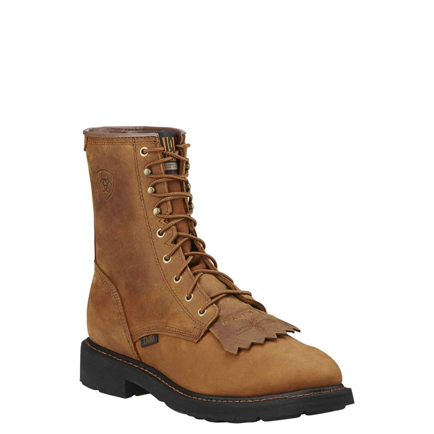 Ariat Boots: Men's 10002418 Cascade Brown 8-Inch Slip-Resistant Boots