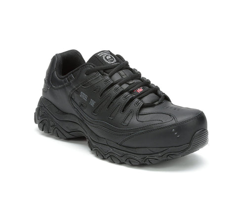 Men's Skechers Work Keymar Steel Toe Waterproof 77517 BLK Work Shoes