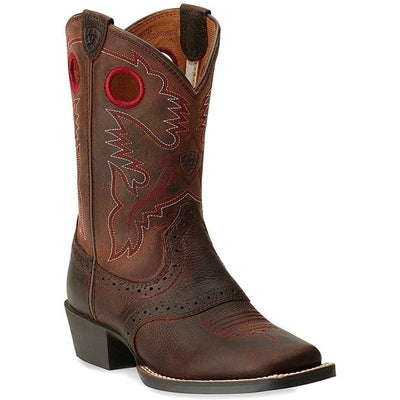 26ec45166f6 CHILDREN'S/YOUTH ARIAT ROUGHSTOCK WESTERN BOOT RED STITCHING 10014101