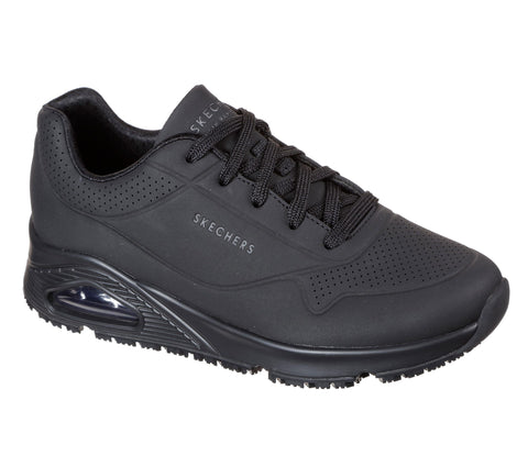 WOMENS SKECHERS DIGHTON WORK SHOES 77200 BLK
