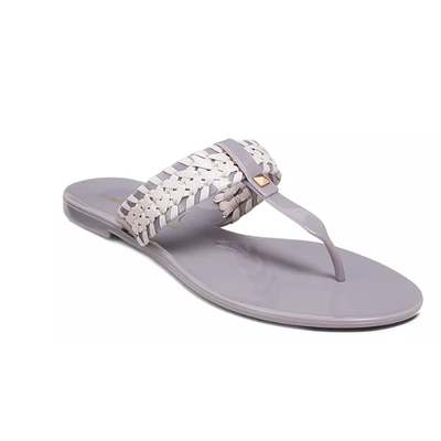 JACK ROGERS TINSLEY JELLY SANDALS GREY/BLUSH