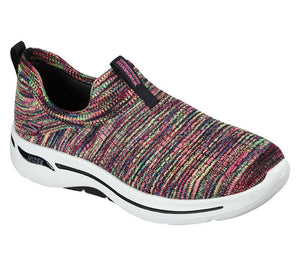 WOMEN'S Skechers GOwalk Arch Fit - Rainbow Sunrise Shoes 124406 BKMT