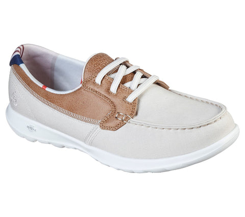 WOMEN'S SKECHERS GOWALK LITE - PLAYA VISTA CASUAL BOAT SHOES 136070 NAT
