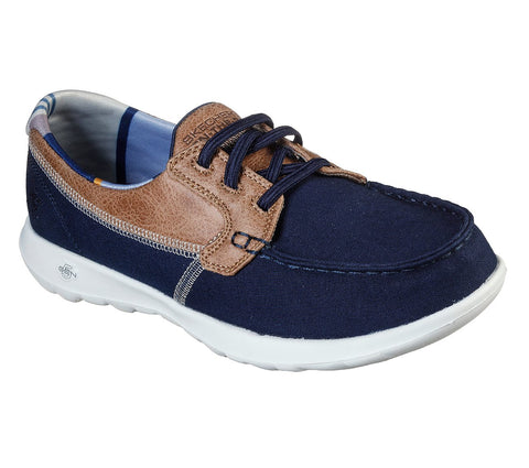 WOMEN'S SKECHERS GOWALK LITE - PLAYA VISTA CASUAL BOAT SHOES NAVY 136070 NVY