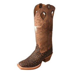 Twisted X Mens Roca Chocolate Leather Buckaroo Cowboy Boots MBKL014