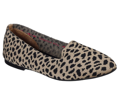 SKECHERS WOMEN'S Cleo - Knitty Kitty FLAT SHOES 158018 TNBK
