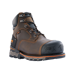 "Timberland Pro BOONDOCK 6"" WP Mens Brown TB092615 COMPOSITE TOE Waterproof Boots"