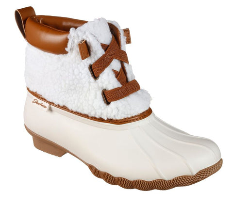 SKECHERS WOMEN'S Pond - Sherpa Snuggle Duck Boots 167036 NAT