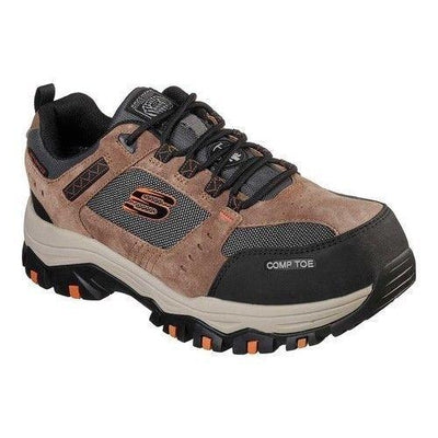Skechers Men's Work Greetah Composite Toe Shoe 77183 BRBK