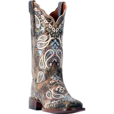 Dan Post Women's Anna Embroidered Cowgirl Boots - Square Toe DP4029