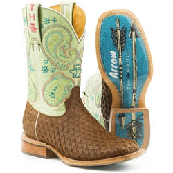 Tin Haul Women's Plume Follow Your Arrow Cowgirl Boots - Square Toe 14-021-0007-1351