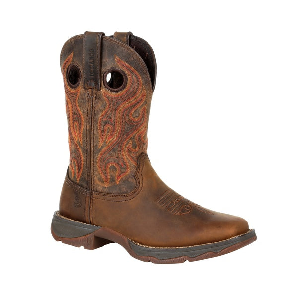 WOMEN'S DURANGO WESTERN WORK BOOTS SQUARE TOE DRD0395