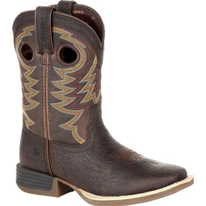 Kid's Durango Lil' Rebel Pro Brown Square Toe Cowboy Boots - Brown DBT0219C