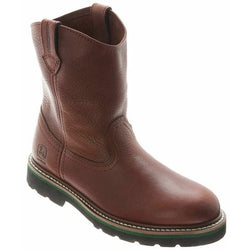 John Deere Children's Boy's Classic Pull On Western Boots Dark Brown JD2113