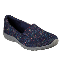 Skechers Women's Relaxed Fit Reggae Fest Wicker Slip-On Sneaker 49291 NVY