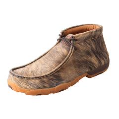 Twisted X Casual Shoes Mens Driving Mocs Lace Up Hyena Rubber Sole MDM0032