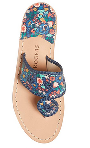 WOMEN'S JACK ROGERS FLAT FLORAL ICON SANDAL MIGHNIGHT