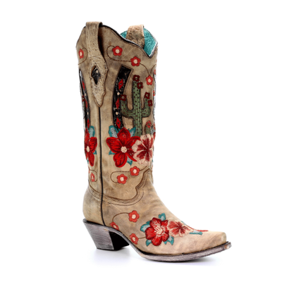 Corral Womens Desert Open Road Cactus Boots A3736