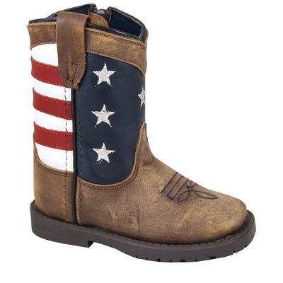 Round Toe Smoky Mountain Youth Boys/' Denver Western Boot 3032Y
