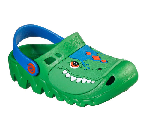 KIDS SKECHERS CALI GEAR: ZAGGLE - HEAT SWELL GATOR SANDALS 400074L GRBL