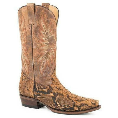Stetson Snake Eyes 12-020-6118-4232 Mens Brown Exotic Snip Toe Western Boots
