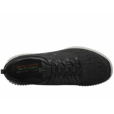 MENS SKECHERS HARTNELL BLACK/GRAY MEMORY FOAM SLIP ON SHOES 52642 BKGY