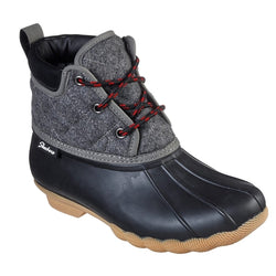 WOMEN'S SKECHERS POND - LIL PUDDLES DUCK BOOTS 44376 BKCC
