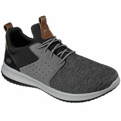 Men's SKECHERS Class DELSON - CAMBEN Casual Shoe, 65474 BKGY Multi SIzes Blk/Gr
