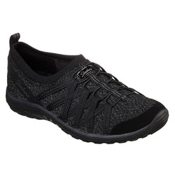 Women's Skechers Relaxed Fit: Reggae Fest - Network Black Shoes 49576 BLK