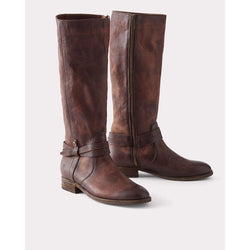 FRYE MELISSA BELTED TALL BOOTS REDWOOD 70500
