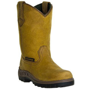John Deere Boots Youth Tan Waterproof Wellington Boots JD3414