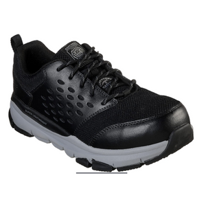 MEN'S SKECHERS WORK: SOVEN ALLOY SAFETY  TOE 77506 BKGY