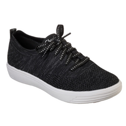 WOMEN'S SKECHERS COMFORT AIR - JUST A LIL KNIT SHOES 49563 BLK