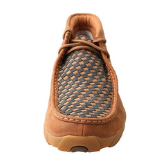 Twisted X Mens Blue Basket Weave Driving Mocs - MDM0057