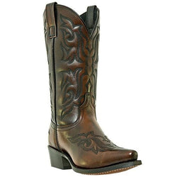 Laredo Men's Hawk Burnished Gold Leather Foot Western Boots 6862