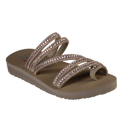 WOMEN'S SKECHERS MEDITATION - GLAM FLASH TOE RING SANDALS 31761 TPE