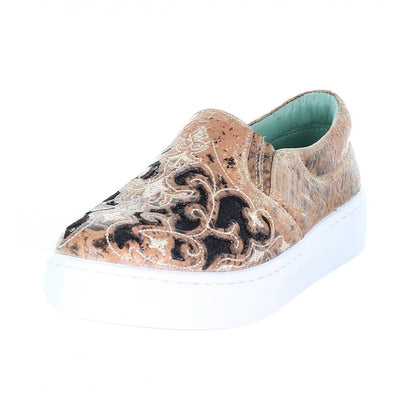 Corral Floral Embroidered Glitter Inlay Sneakers E1563