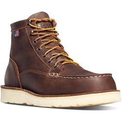 "Danner Men's Bull Run Moc Toe 6"" Work Boots Brown 15563 SOFT TOE"