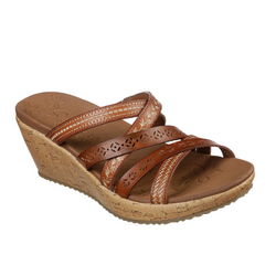 WOMEN'S SKECHERS BEVERLEE - TIGER POSSE WEDGE SANDALS 31714 LUG