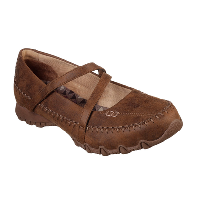 WOMEN'S SKECHERS RELAXED FIT: BIKERS - FREE THINKER MARY JANE SHOE 44717 BRN