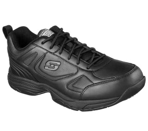 SKECHERS MEN'S Work Relaxed Fit: Dighton SR 77111 BLK WORK SHOES