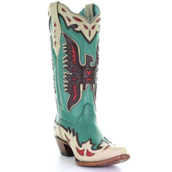 Corral Turquoise Eagle Retro Cowgirl Boot A3779